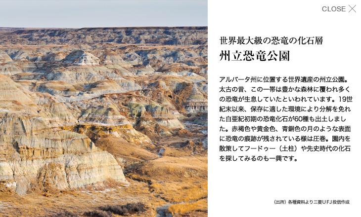 州立恐竜公園 Navio(ナビオ)世界地図 カナダ|三菱UFJ...